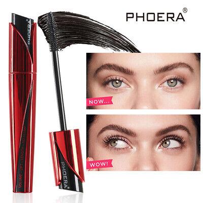 Phoera 9D Best Black Waterproof Mascara 3D Fiber Lash Makeup Eyelashes Volumizer 2