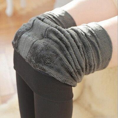 Pantaloni da donna a vita alta elasticizzati in caldo pile con fodera in pile PB 12