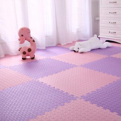 4 Tiles Home Yoga Gym Fitness Interlock EVA Foam Floor Mat Puzzle Baby Kids Play 4
