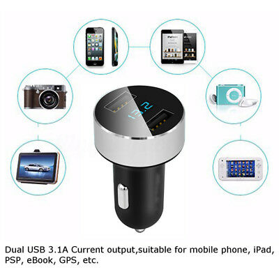 5V/3.1A Dual USB Port Car Charger Quick Charge Adapter LED for iPhone Samsung LG 5