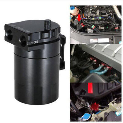 Oil Catch Can Kit Baffled Petrol Diesel Turbo Tank Reservoir Filter w/ Breather 2
