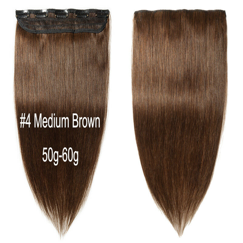 Deluxe Real Aaa Clip In Remy Human Hair Extensions One Piece 34
