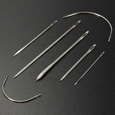 7x Nadeln gebogene Nadel Polsternadel Nähnadel Repair Rund Leder Sattlernadel 7
