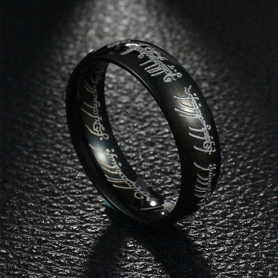 Lord of the Rings The One Ring Power Band 6mm Unisex Stainless Steel Size 6-13 9