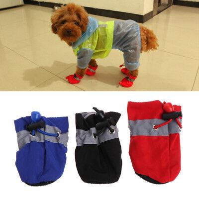 4 pcs Waterproof Pet Dog Shoes Anti-slip Rain For Small Cats Puppy Socks Booties 3