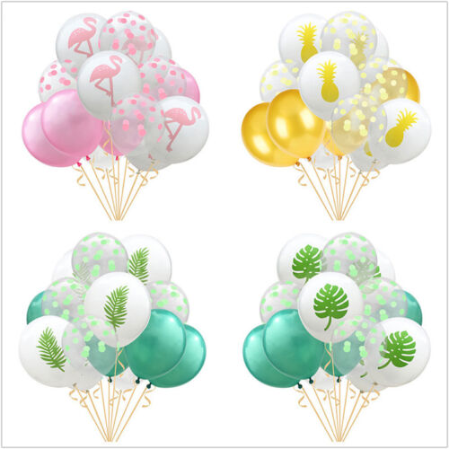 15pcs Lovely Flamingo Cactus Pineapple Balloon Hawaii Tropical Party Supplies 5