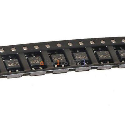 100Pcs IC MB6S 0.5A 600V Miniature Mini SMD Bridge Rectifier 3