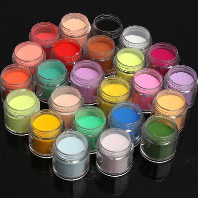 48 Colors Acrylic Powder Liquid Nail Art Set Glitter UV Gel Glue Tips Brush 11