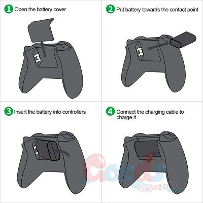 2Pcs Branded Rechargeable Battery Pack For Xbox One Wireless Controller 1400mAh 3