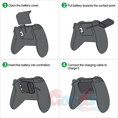 2Pcs Original Rechargeable Battery Pack For Xbox One Wireless Controller 1400mAh 3