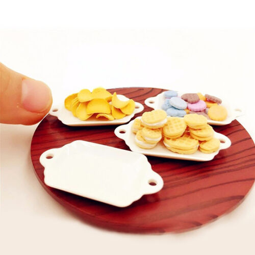 33 PCS DOLLHOUSE Miniature Tableware Plastic Plate Dishes