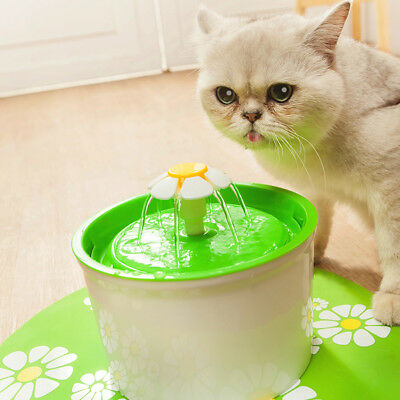 1.6L Flower Automatic Drinking Water Fountain Dog/Cat Pet Auto Water Dispenser