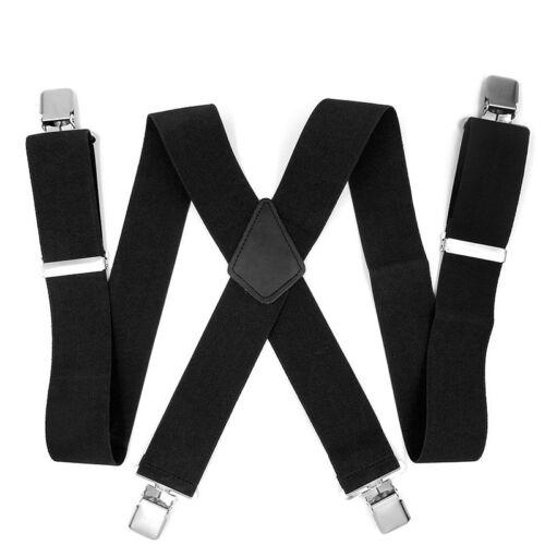 f59602ad88b95 NOIR 50MM BRETELLES Réglables De Pantalon Femme Homme Élastique Clip  Qualité,fr