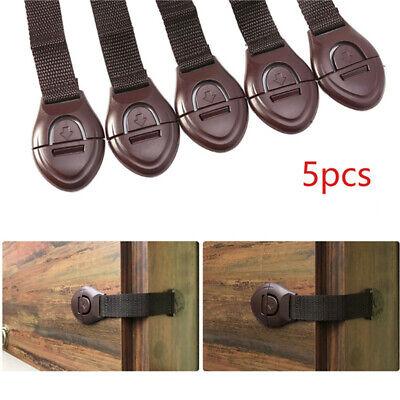 5 Toddler Baby Kid Child Safety Lock Proof Cabinet Drawer Fridge Cupboard Door 2