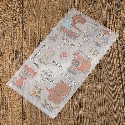 Various Silicone Clear Stamp Transparent Rubber Stamps DIY Scrapbooking Craft 4