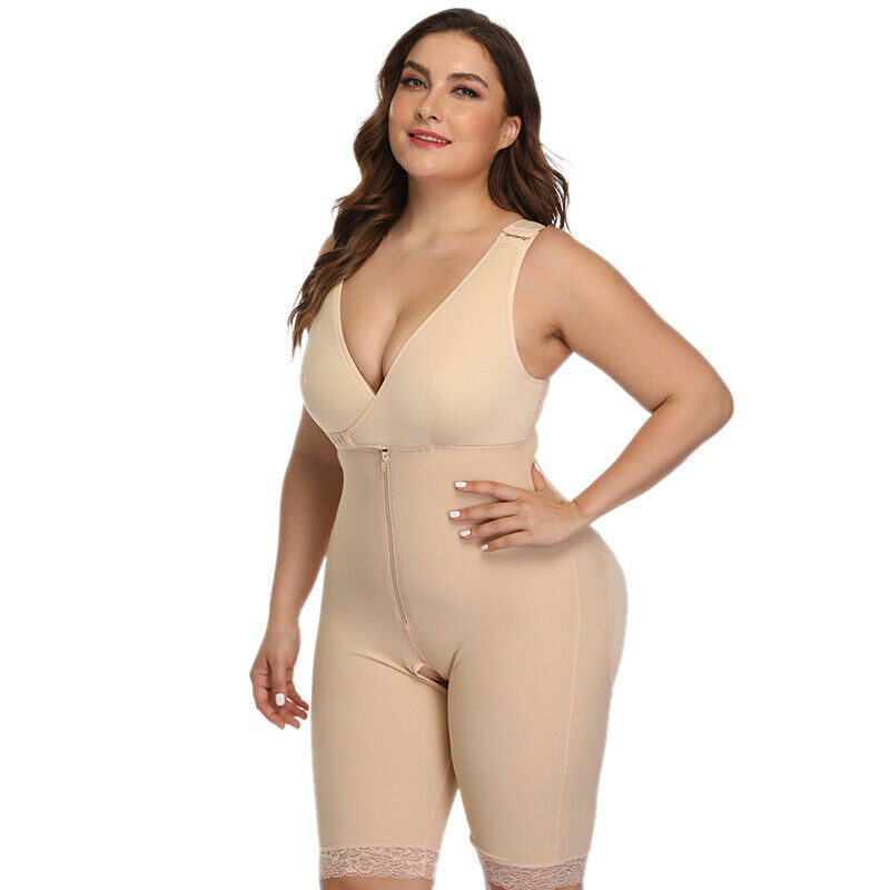 Women Body Shaper Girdle Strong Support Shapewear Slim Cincher Corset Plus Size 6