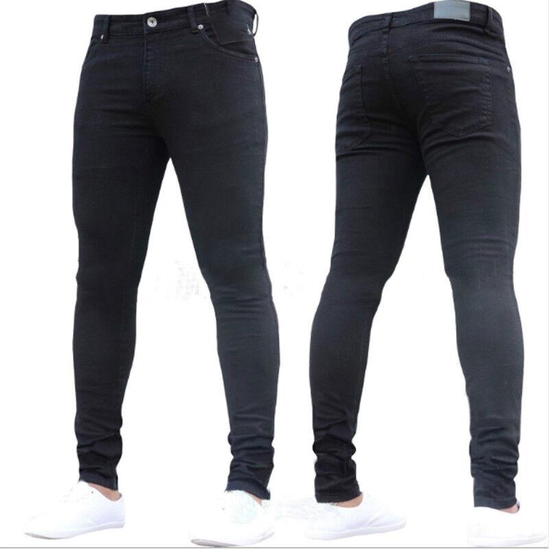 3c7b55e4fb1c Men's Skinny Jeans Biker Stretch Slim Fit Denim Pants Straight Leg Trousers  New 6 6 of 6 See More