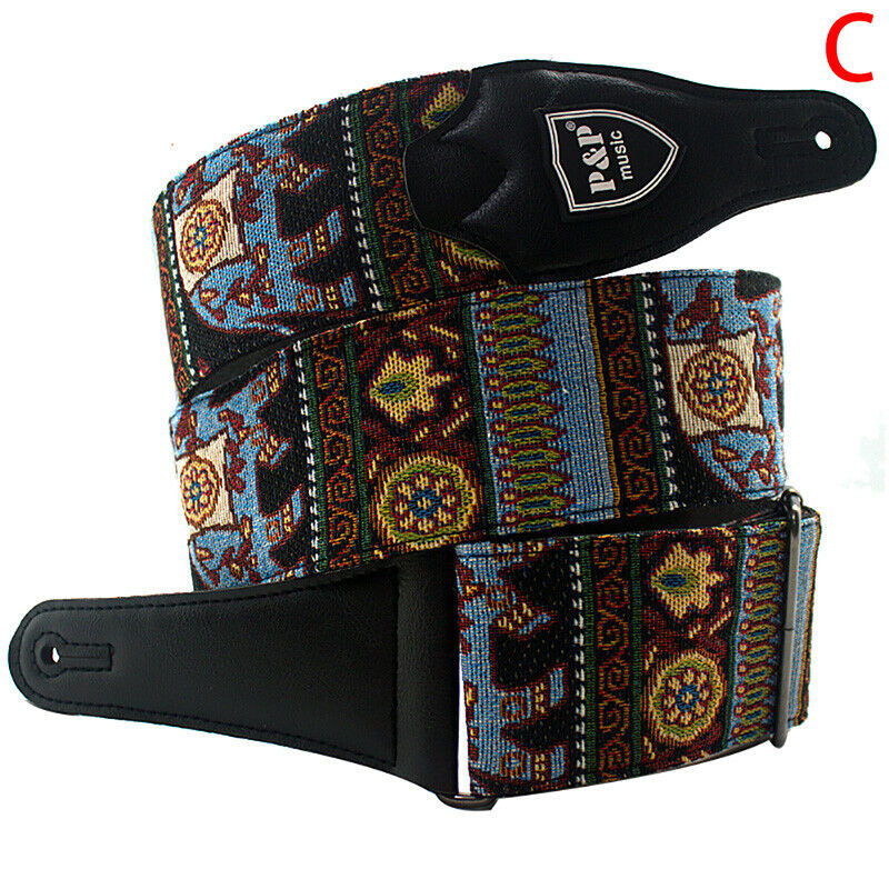 Embroidered Guitar Strap Belt Widen Electric Acoustic Guitar Bass Guitar BeltFBB