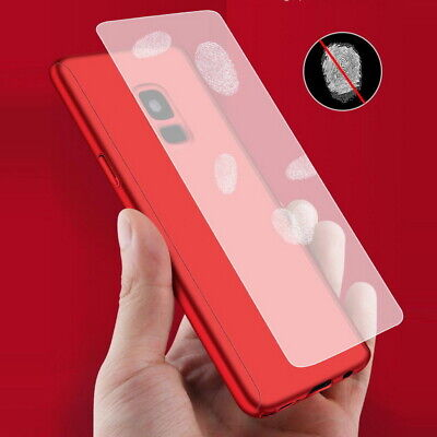 For iPhone 11 Pro Max XS XR 7 8 Plus 360° Full Cover Hybrid Case+Tempered Glass 11