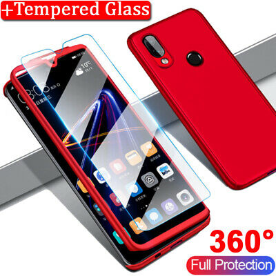 For Samsung Galaxy A10 A20E A30 A40 A50 A60 A70 Full Cover Case + Tempered Glass 5