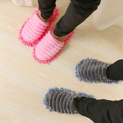 Pair Mop Slippers Lazy Floor Foot Socks Shoes Quick Polishing Easy Cleaning Dust 8