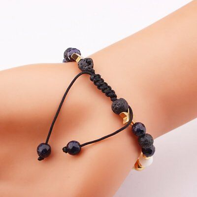 Universe Planets Bead Bangles Natural Solar System Energy Bracelet For Women Men 7