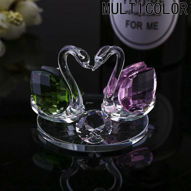 Crystal Swan Wedding Decor Paperweight Figurine Gift Crafts Home Decor New UK 10