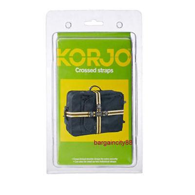 2X Korjo Cross Suitcase Belt Luggage Bag Strap Travel Camping Nylon Crossed Belt 2