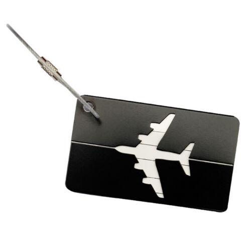 Aluminium Travel Luggage Baggage Tag Suitcase Identity Address Name Label 8