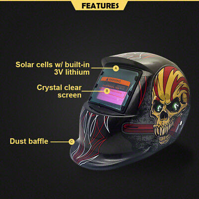 Solar Welding Mask Helmet Auto Darkening  MAG ARC TIG High Quality AU Pro 2