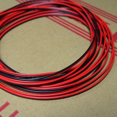 Stranded UL 2468 PVC 2-Pin Red Black Flat Ribbon Wire Cable 16/18/20/24/26/28AWG