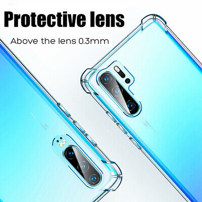 For Huawei P30 Pro Mate 20 Transparent Airbag Shockproof Silicone Case Cover 5