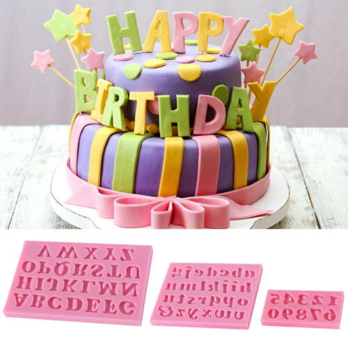 Groovy 3Pcs Silicone Alphabet Number Letters Fondant Mold Birthday Cake Birthday Cards Printable Riciscafe Filternl