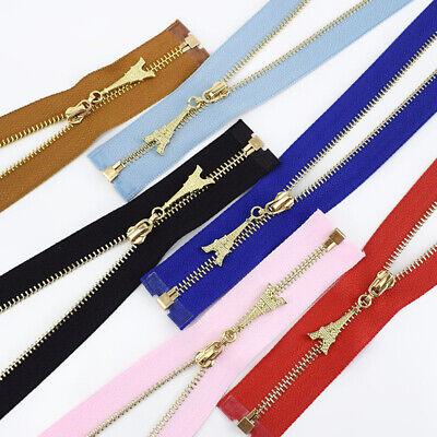 1Pc 20/40/50/60/70CM  Gold Teeth Metal Zips Sewing Zip Garment Accessories 6