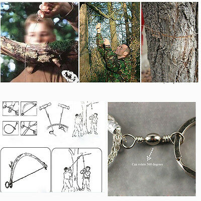 Emergency Survival Stainless Steel Wire Saw Camping Hiking Hunting Climbing Gear