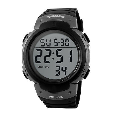 Men's Digital Sports Watch LED Screen Large Face Military Waterproof Watches 8