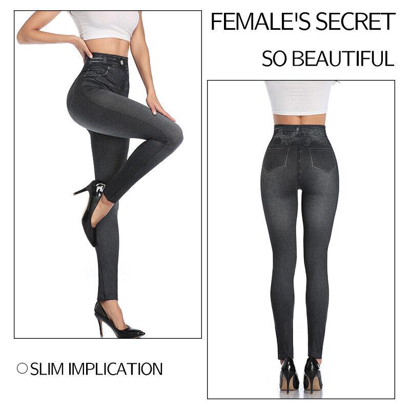 Pencil Pants Leggings Women Jeans Denim Design Pencil Pants Leggings High Waist 8