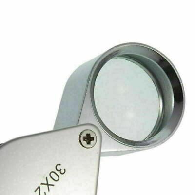 30X21 Triplet Jeweler Eye Loupe Magnifier Magnifying Glass Jewelry Diamond+Box 6