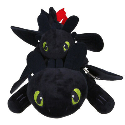 """10""""/14"""" UK How to Train Your Dragon 3 Toothless Night Fury Light Fury Plush Doll 8"""