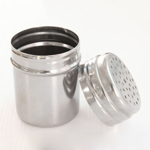 Spice Sugar Salt Pepper Herb Shaker Storage Bottle Stainless Steel Kitchen JO
