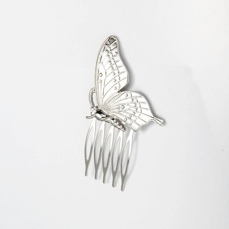 Fashion Style Women Girls Alloy Butterfly Hair Comb Headwear 2
