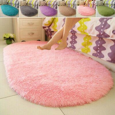 Fluffy Rugs Anti-Skid Shaggy Area Rug Dining Room Carpet Floor Mat Home Bedroom 2