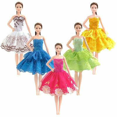 new barbie doll clothes clothing 3 random dresses party summer dress 6