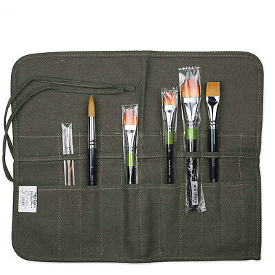 Popular Roll Up Canvas Paint Brush Storage Case Bag For Watercolor Oil WF 6