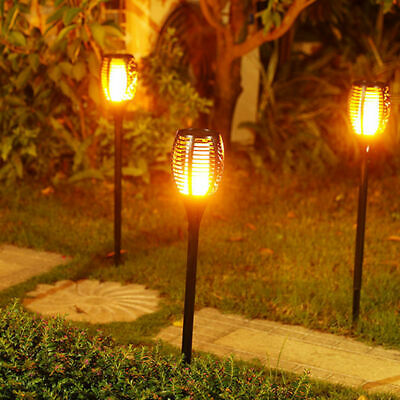 4 Pack Solar Torch Lights 96 LED Flickering Lighting Dancing Flame Garden Lamp 5