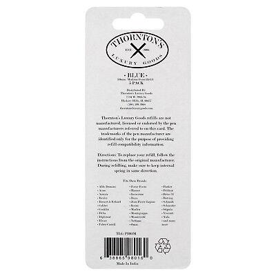 Thornton's Luxury Goods Parker Style Ballpoint Refills, Medium, Blue, 5/Pack 2
