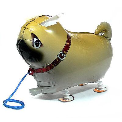 Children Walking Foil Pet Pug Dog Balloon Helium Fun  Party Birthday Decors YJ 3