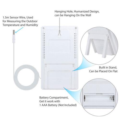 Indoor/Outdoor Thermometer Digital LCD Hygrometer Meter Temperature Humidity  IU 5