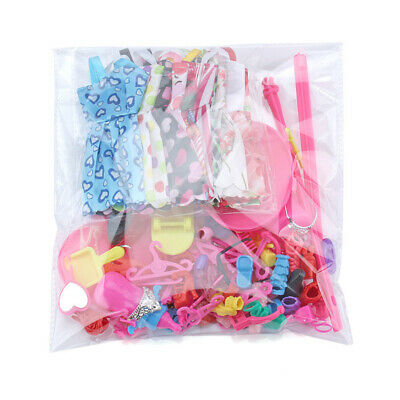Barbie Doll Dresses, Shoes and jewellery Clothes Accessories 85pcs/Set 2