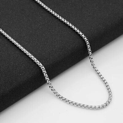 Wholesale Stainless Steel Square Rolo Box Cylinder Chain Necklace Mens & Womens 3